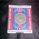 Nagano 98 Olympics General Mills Usa Speed Skating Coin