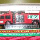 1999 HESS Toy Miniature Mini Fire Truck MINT NIB Red