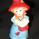 Vintage 1973 JACCO #2 Figurine Bell Girl Drum Red Hat