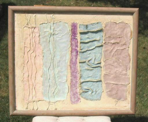 Original Mixed Media Painting Framed Art Signed Stone