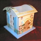 Ganz Spring  Easter Wooden Cottage Candle Jar Holder