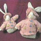 Pair of NEW Crazy Mountain Pink & White Easter Bunny Rabbit Sweater