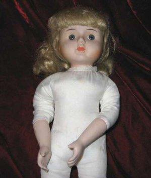 "Fabulous 15"" Porcelain Doll Blonde Hair Great 4 Parts"