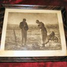Vintage Print The Angelus Millet Framed 8x7