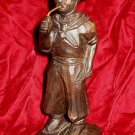 Vintage Carved wooden Man Figurine Primitive Folk Art