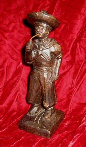 Vintage Carved wooden Man Figurine Primitive Folk Art
