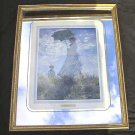 Monet Woman with a Parasol Gold Frame Mirror Border