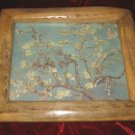 Unique Plum Blossom Print in Cane Fruitwood Frame