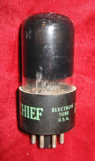 Vintage Radio TV Vacuum Electron Tube Chief 6K6GT
