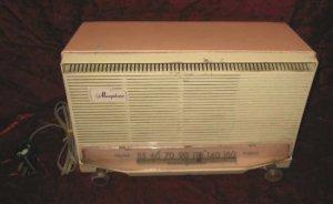 Vintage GE Musaphonic Pink Tube Radio T-130A