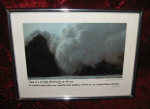 Vintage Framed Photo Benjamin A. Guyger Eileen Lynch Breakers