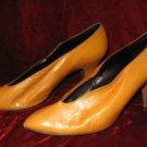 Vintage Enigma Mustard Classic Shoes Pump Heel 8.5