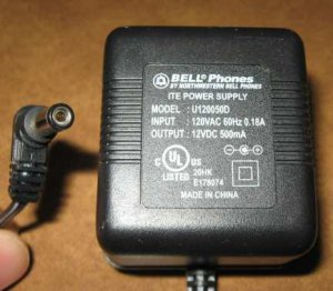 Bell 5.8 GHz Cordless Phone AC Adapter Charger 12VDC