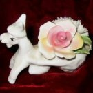 Porcelain Bone China Donkey Floral Rose England