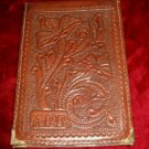 Vintage Mexican Aztec Leather Wallet Holder