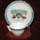 Kentucky Mini Souvenir Plate & Cup the Blue Grass State