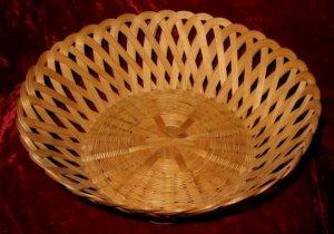 Nice Vintage Hand Woven Open Basket Weave Wicker Cane