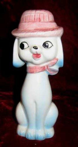 Vintage Japan Ceramic Dog Hat Salt Pepper Shaker