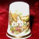 English Bone China Country Cottage Porcelain Thimble