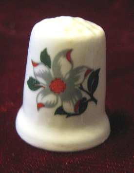 Vintage Porcelain Bone China Flower Thimble England
