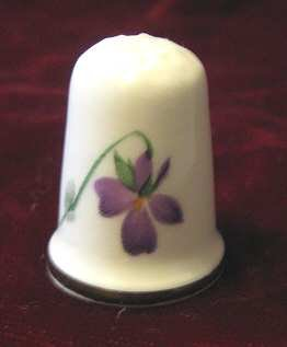 Kenall Fine Bone China Flower Thimble Staffordshire England