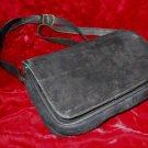 Black Suede Leather Barganza Purse Handbag Satchel Bag