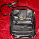 Black Vinyl Purse Handbag Messenger Shoulder Bag