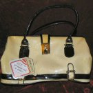 Vintage New Cream Leather Purse Handbag Evening Bag