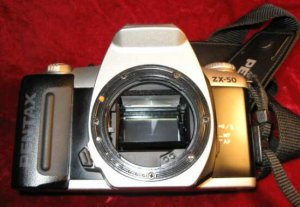 Pentax ZX-50 35MM Film Camera Just Case No Lens