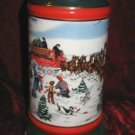 1991 Budweiser Clydesdale Holiday Stein Mug The Season's Best Susan Sampson CS133