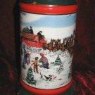 1991 Budweiser Clydesdale Holiday Stein Mug The Season's Best Susan Sampson CS133