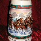 1993 Budweiser Clydesdale Holiday Stein Special Delivery CS192