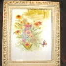 Vintage Chic Framed Art Print Sunflower Butterfly Shabby