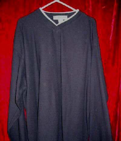 NWT Mens Utility V-Neck Sweater Fleece Cotton XL