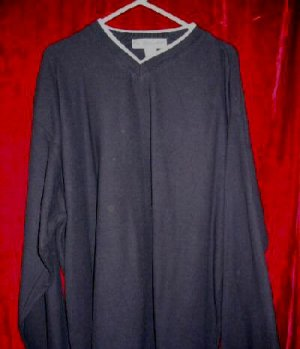 NWT Mens Utility V-Neck Sweater Fleece Cotton XL