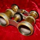 Vintage Antique La Reine Parisian Brass Opera Glasses Binocular Crown Trade Mark