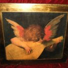 Angel Playing the Lute Wood Hand Made Art Print Poster Italy Gold Fiorentino