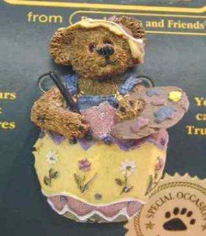 New Boyds Bear Bearwear Eggbert the Artist Pin 81502 Retired