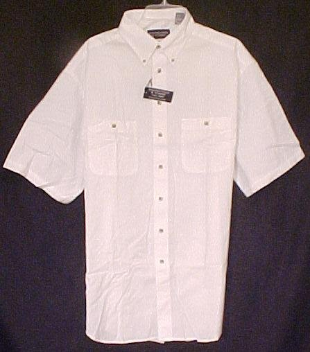 New White Peached Twill Cotton Shirt Size Xlt Xl Tall Big Tall Mens Clothing   410241