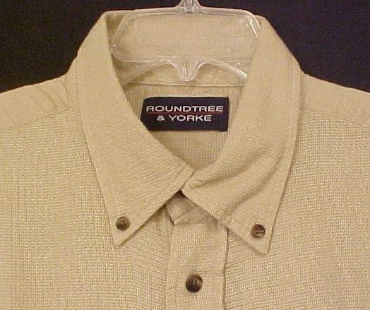 New Button Down Collar Short Sleeve Shirt Putty Sz 2X Big Tall Mens Clothing 600331-7