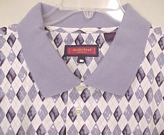 NEW Austin Reed Polo Golf Shirt Collar Short Sleeve 4X 4XL Big & Tall Men's Clothing 600481