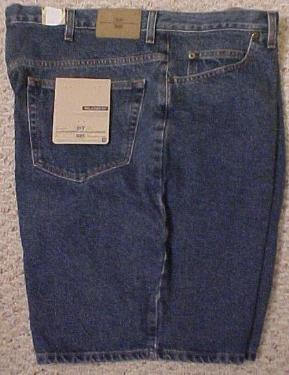 Roundtree & Yorke Denim Jean Shorts Jeans Med Blue Stone Size 46 Big Tall Mens Clothing 600571-3