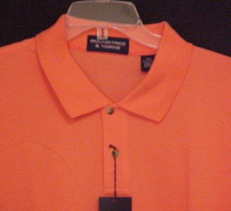 New Polo Shirt Short Sleeve Pull Over Collar Peach Size 2X 2XL Big Tall Mens Clothing 600701-2