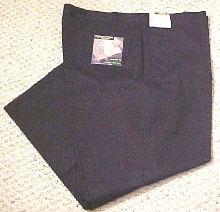 NEW Navy Khakis Flat Front Pants Classic Fit 48 X 28 Big Tall Mens Clothing 600761