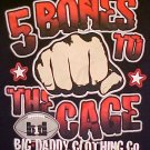 Big Daddy Black Football 5 Bones Long Sleeve T-shirt 2X 2XL Big Tall Mens Clothing 601021-3