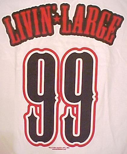 Big Daddy Clothing Company Livin Large 99 T-Shirt Size 3X 3XL Big Tall Mens Clothing 601131-2
