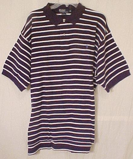 Polo Ralph Lauren Golf Short Sleeve Shirt 2X 2XL Navy Stripe Big Tall Men's Clothing 601311
