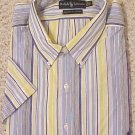 Ralph Lauren Button Down Short Sleeve Shirt 2XLT 2XT Big Tall Men's Clothing 601861