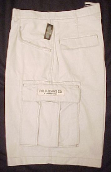 Ralph Lauren Polo Jeans Company  Freighter Cargo Shorts Putty 50 Big Tall Mens Clothing 601701