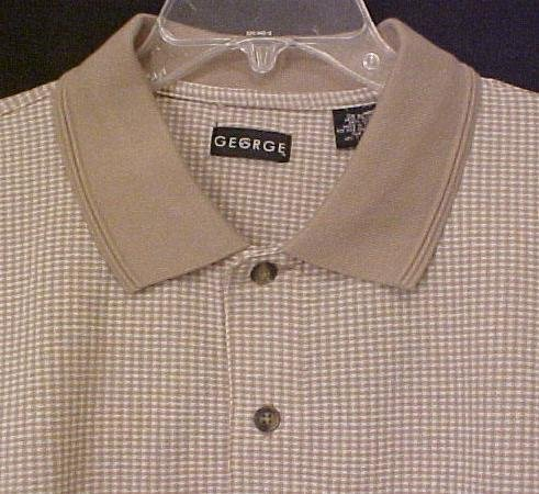 New Polo Golf Shirt Pull Over Collar Size 3X 3XL Tall Big Tall Mens Clothing 702801